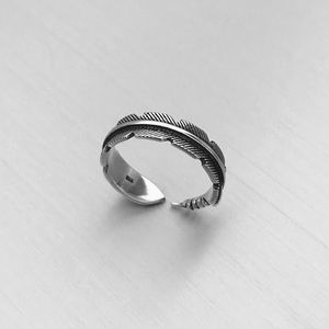 """Jewelry - """"NEW"""" Sterling Silver Feather Ring"""